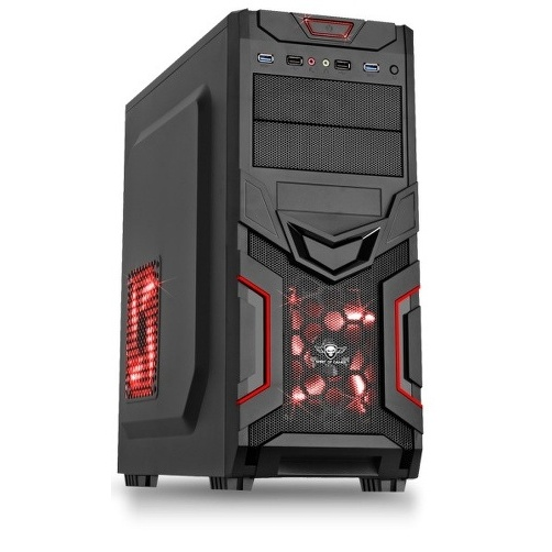 BOITIER ATX SPIRIT 8606RE30 GAMER X-FIGHTERS ROUGE