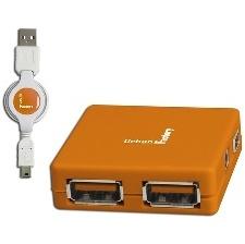 HUB USB2 4 PORTS URBAN FACT- MHU03UF ORANGE