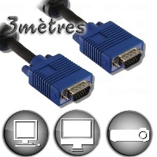 CABLE VGA 3M MM ECO STANDARD