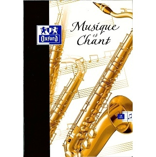 CAHIER MUSIQUE-CHANT 48 PAGES OXFORD 210*297 MM (GRAND FORMAT)