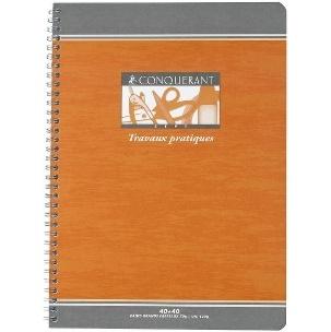 CAHIER 120 PAGES TRAVAUX PRATIQUES  CONQUERANT SEPT 240*320 MM