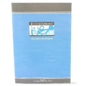 CAHIER 64 PAGES TRAVAUX PRATIQUES CONQUERANT SEPT 210*297 MM (GRAND FORMAT)