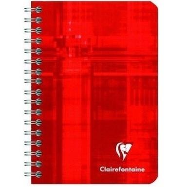 CARNET RELIURE INTEGRAL 100 PAGES PETITS CARREAUX CLAIREFONTAINE FORMAT 9.5X14 CM QUADRILLE 5X5.