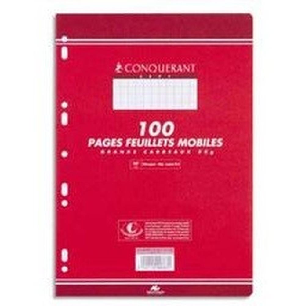 COPIES SIMPLE 210*297 MM (GRAND FORMAT) 80G 100 PAGES PETITS CARREAUX BLANC CONQUERANT7
