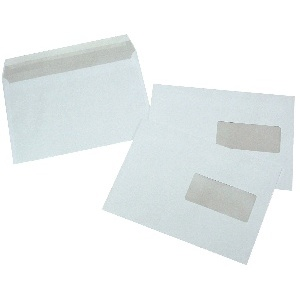 ENVELOPPES BLANCHES 162*229 MM AVEC BANDE ADHESIF