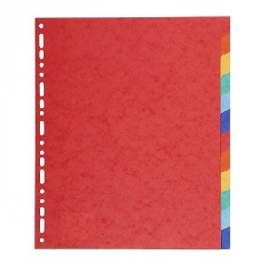 INTERCALAIRE CARTE FLASH A4 JEU 12 COULEURS ASSORTIES
