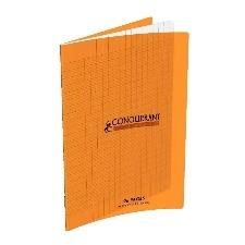 CAHIER 96 PAGES GRANDS CARREAUX CONQUERANT POLYPRO 170*220 MM (PETIT FORMAT) ORANGE