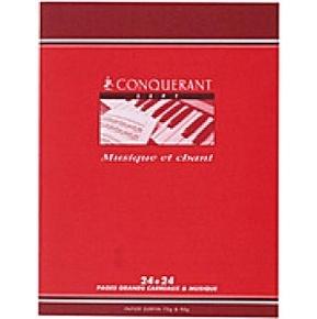 CAHIER MUSIQUE 48PAGES 170*220 MM (PETIT FORMAT) 70G CONQUERANTT7