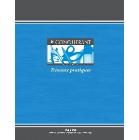 CAHIER 48PAGES 170*220 MM (PETIT FORMAT) TRAVAUX PRATIQUES 70/90G SEYES CONQUERANT7