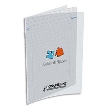 CAHIER DE LIAISON 48PAGES 170*220 MM (PETIT FORMAT) POLYPRO INCOLORE CLASSIQUE