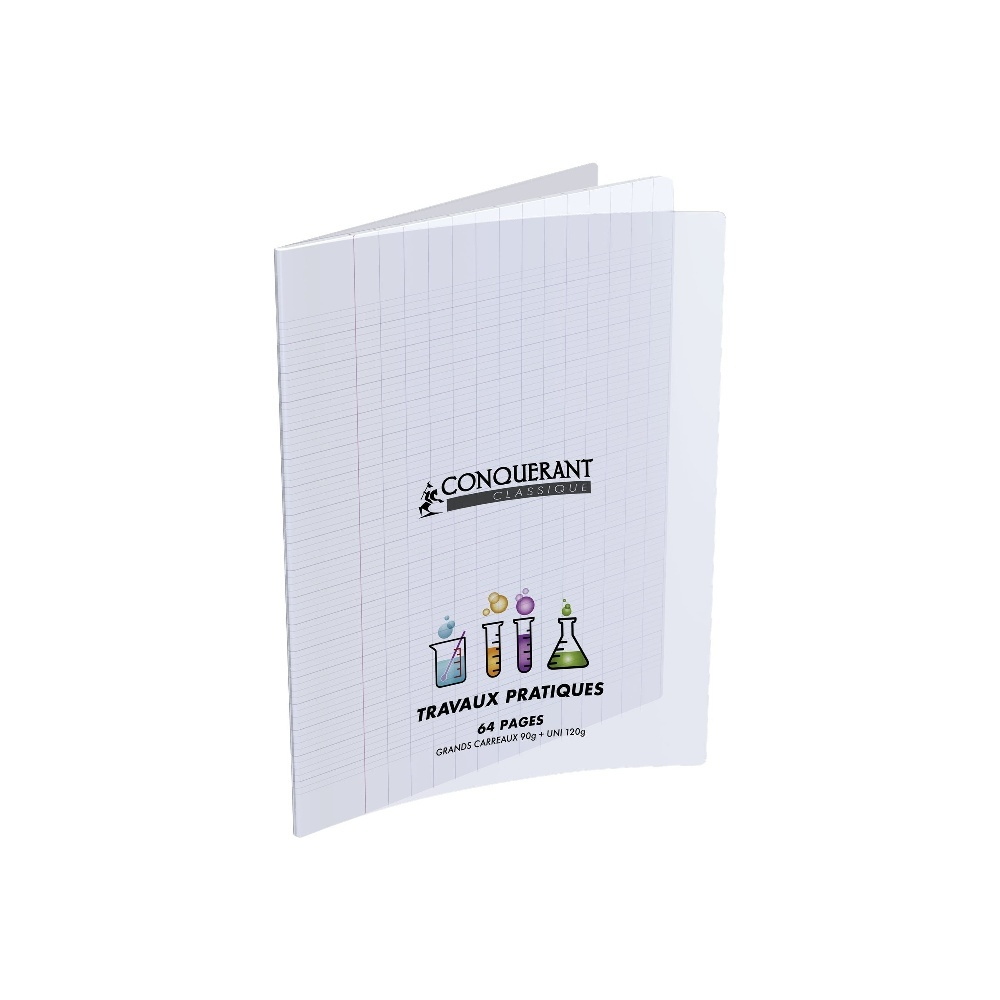 CAHIER DESSIN 32PAGES 170*220 MM (PETIT FORMAT) POLYPRO INCOLORE 90G