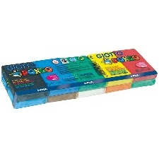 PATE A MODELER GIOTTO PONGO SOFT - ASSORTIMENT MULTICOLORE 500G  10 COULEURS 50G