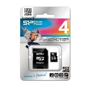 CARTE MEMOIRE MICRO SD 4GO + ADAPT SDHC