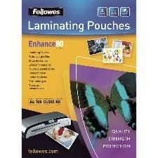 POCHETTES DE PLASTIFICATION STANDARD A4 80 MICRONS PAR 100