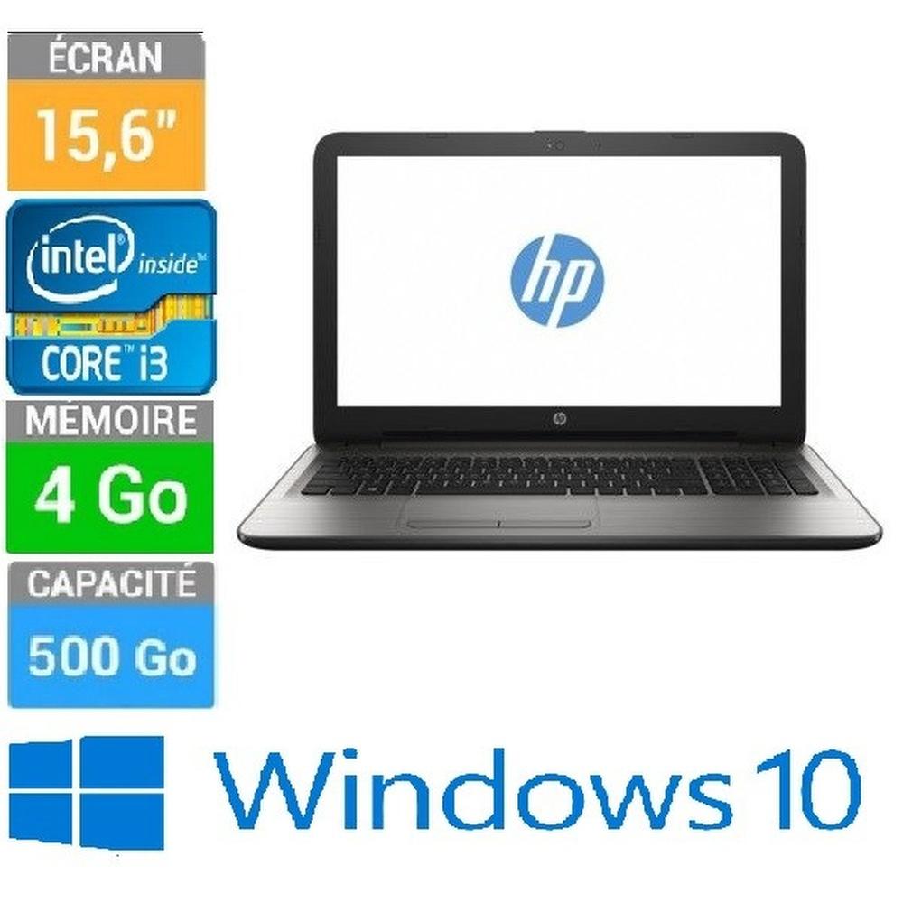 ORDINATEUR PORTABLE HP INTEL CORE I3-6006U ECRAN 15-6 4GB-500 W10H
