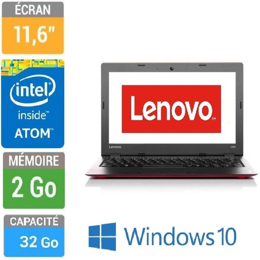 ORDINATEUR PORTABLE 12  LENOVO 80R200F6FR Z3735F-2GO-32GO SSD W10