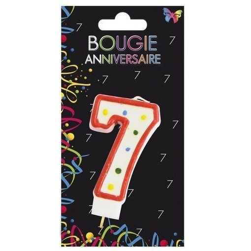 BOUGIE ANNIVERSAIRE CHIFFRE N7