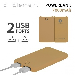 BATTERIE AUTONOME FLUO GOLD E ELEMENT POWERBANK 7000MAH