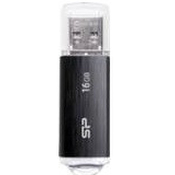 CLE USB2 16GO SILICON P- SP016GBUF2U02V1K NOIRE
