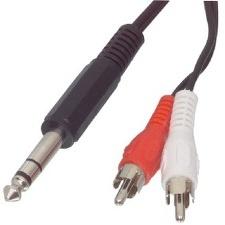 CABLE AUDIO JACK 6-35 -  2RCA M 2M VALUELINE VLAP23300B20
