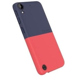 ETUI COQUE ROUGE ET BLEU POUR HTC 530