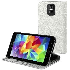 ETUI COVER STAND BLANC GALAXY S5