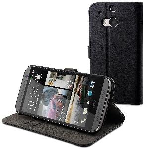ETUI FOLIO NOIR HTC M8