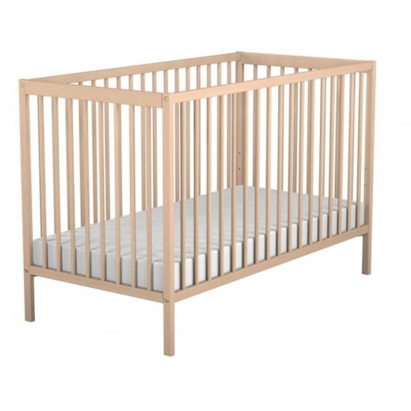 lit hetre brut bois assortis 052 bambisol maor discount. Black Bedroom Furniture Sets. Home Design Ideas