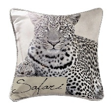 COUSSIN 40X40 GUEPARD TAUPE