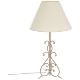 LAMPE METAL ARABESQUE GRIS BLANCHI H46 JJA 103044A