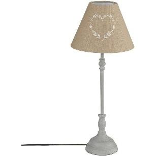 LAMPE METAL ABJ BRODE TAUPE H56 JJA 121544