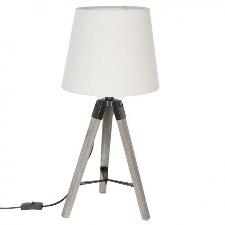 LAMPE BOIS TREPIED RUNO LIN H58 136663A JJA