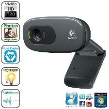 WEBCAM HD LOGITECH C270 3MPX 1MIC