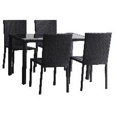 TABLE LIVDINSE EXTERIEUR EN RESINE TRESSEE 4 CHAISES