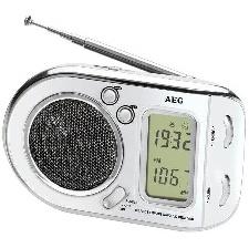 RADIO AEG PORTABLE BLANC