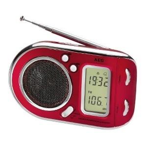 RADIO AEG PORTABLE ROUGE