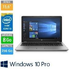"ORDINATEUR PORTABLE HP 15,6"" 250G6 I3-6006U 4GB-256GBSSD DVD-WR SILVER W10P64"