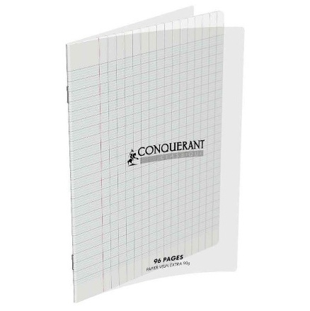 CAHIER AGRAFE 170X220MM (PETIT FORMAT) POLYPRO INCOLORE 90G 96P SEYES CLASSIQUE
