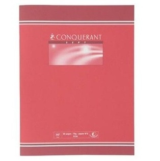 CAHIER BROUILLON 32 PAGES SEYES CONQUERANT SEPT FORMAT 170*220 MM (PETIT FORMAT)