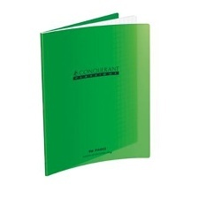 CAHIER AGRAFE 170X220 POLYPRO VERT 90G 96P SEYES CLASSIQUE