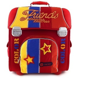 BACKPACK 1ST GRADE GERMANY BAG FRIENDS RED-ORANGE-BLUE 38x35x22 cm ST-802