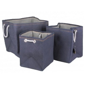 LOTS DE 3 PANIERS STYLE JEAN 28932 FORNORD