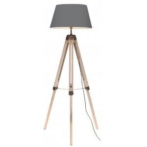 LAMPE TREPIED ABAT-JOUR GRIS FONCE 400163 FORNORD
