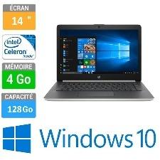 ORDINATEUR PORTABLE 14 HP CK0000NK CELERON N4000 4GB 128SSD ARGENT- W10H