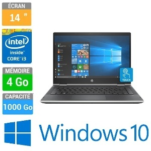 ORDINATEUR PORTABLE 14 HP PAVILION X360 14-CD0000NK I3-8130U 4GB 1TB W10H