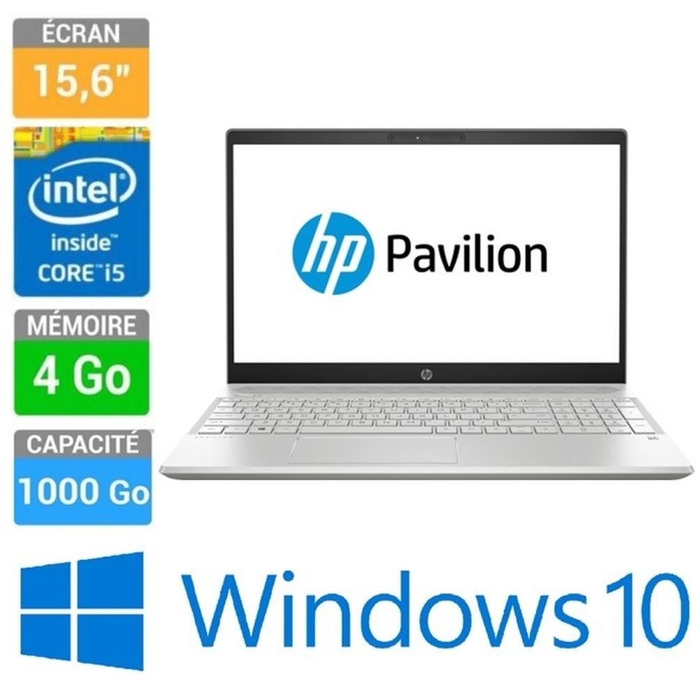 ORDINATEUR PORTABLE 15 HP CS0004NK I5-8250U 4GB 1TB  W10H ARGENT