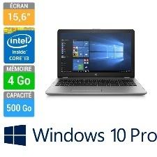 ORDINATEUR PORTABLE 15 HP 250 G6 I3-6006U 4GB-500GB DVDRW W10PRO