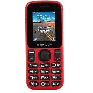 TELEPHONE PORTABLE THOMSON TLINK12 2SIM ROUGE