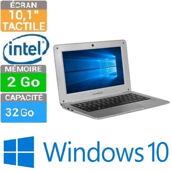 ORDINATEUR PORTABLE 10 SHNEIDER SCL101BTP X5-2GO-32 SSD W10 CLAVIER ... 9dcf01f04cf7