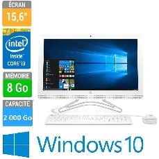 PC AIO HP 24-E028NF 24  I3-8GO-2TO-WIN10